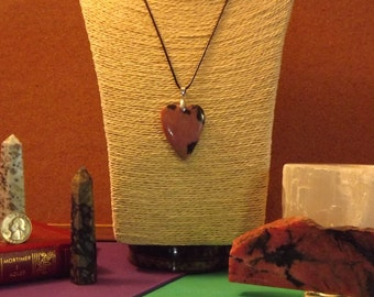 Rhodonite Heart pendant