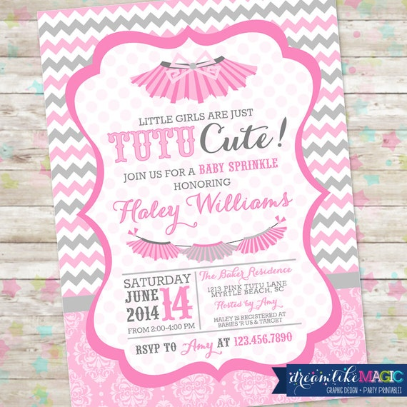 Captivating Tutu Cute Baby Shower, Baby Sprinkle, Tutu Baby Shower, Tutu Thrilled, Tutus  Baby Shower Invite, Printable Invitation, Baby Girl Shower