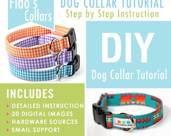 Dog Collar Tutorial - How to make a dog collar - INSTANT Download - PDF only