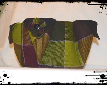 """Green purple"" Scottish basket"