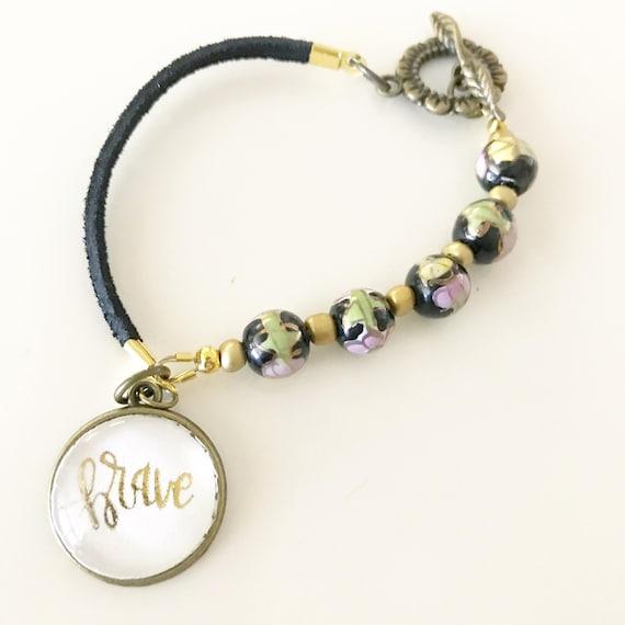 Catholic Jewelry * Catholic Bracelet * Christian Jewelry * Beaded Leather Bracelet * Gifts for Her