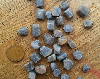 3pcs Blue Sapphire Crystal // For Purity & Love, Gemini Virgo Libra Saggitarius Throat Chakra, September Birthstone, Crystal Grid Roxxi1018