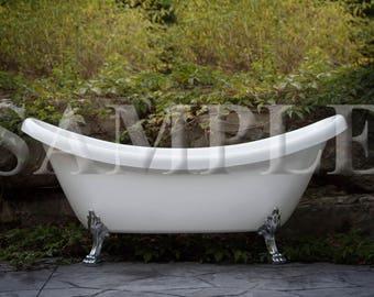 Clawfoot bathtub 1 jpg file stock photo
