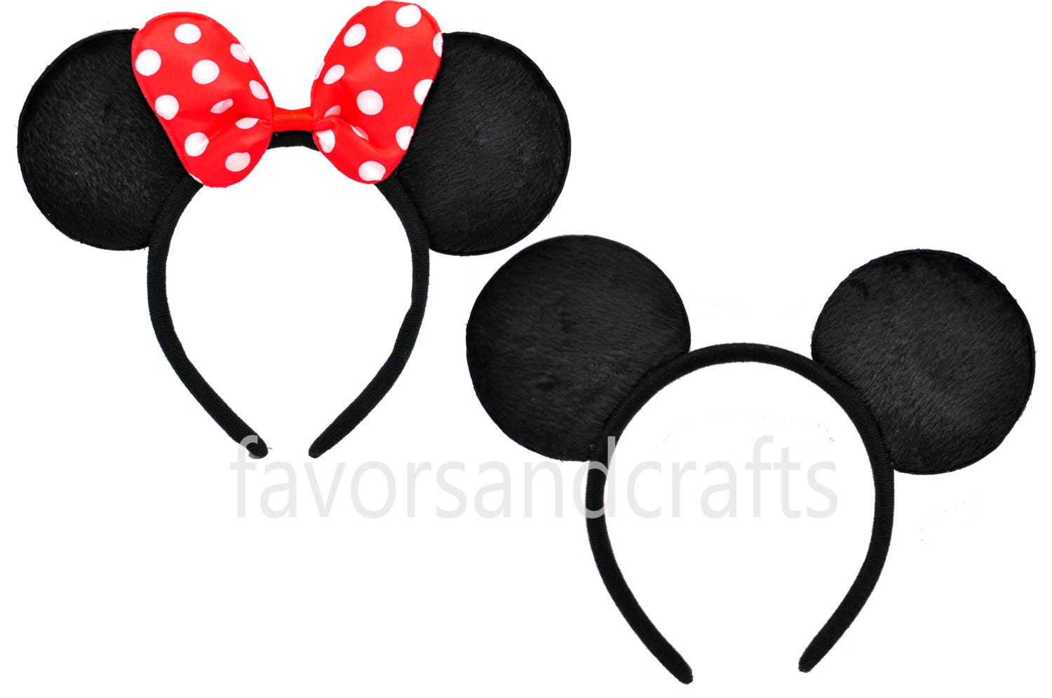 Set of 2-Minnie Mouse Ears Mickey Mouse Ears Minnie Ears