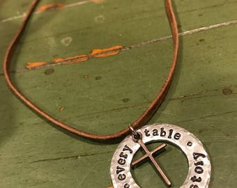 Every Table Tells a Story Necklace