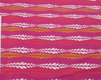 "Montreux Lori Mason 2011 RJR Fabrics Fushia Stripe White Red Half Yard 18"" Quilt Quilting Sewing Cotton Fabric HTF OOP Retired Striped New"