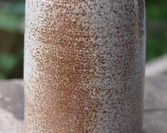 Lidded Canister Jar, gas and soda fired, 16.5 cm tall.