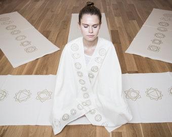 Meditation Blanket, wool and cashmere, yoga, meditation, luxury, natural fabric,