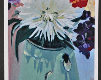 Dahlia Bloom Series IV greeting card from original oil painting by Amy Rie McGuire