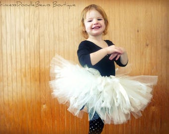 Knotty Girl - custom SEWN tulle tutu skirt - Knotted ends for Unique look - Made to order - Photo prop, costume, dress up, parties