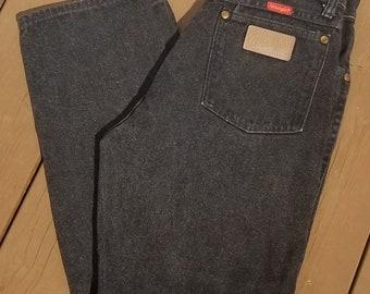Vintage Black Women's Wrangers - Highwaisted - Size 7 Length 30