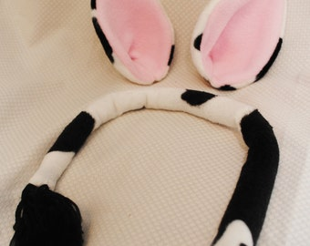 Cow Ears and Tail