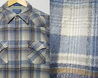 Vintage 1970s Pendleton Shirt / M - L / High Grade Western Wear / Western Shirt / Pearl Snap / Cowboy Shirt / Hunting Shirt / Camping / 70s