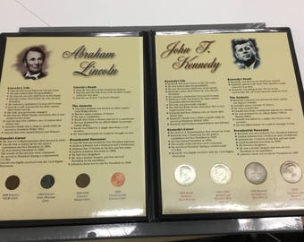 Abe Lincoln John F Kennedy comparison in coins