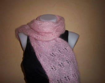 Mohair wool 1 m 20 (Pink).