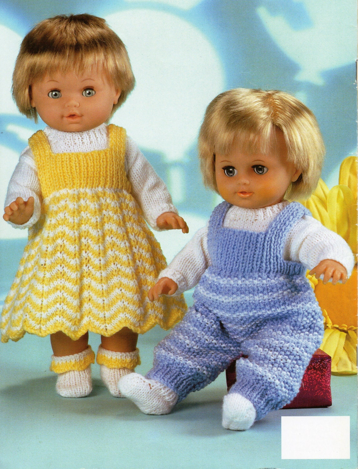 Baby Dolls Knitting Patterns Baby Dolls Dress Dungarees Sweater ...