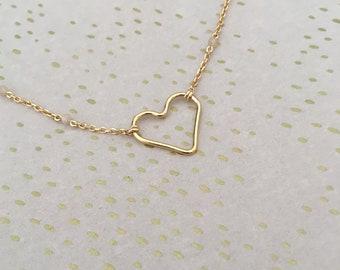 Pink Moonstone beaded chain / pendant heart
