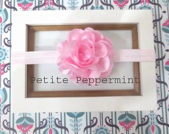 Baby headband, newborn headband, Baby Flower Headband - Pink Baby Flower Headband