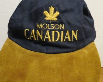 Molson Canadian Cap Hat What Beer's All About Blue Strapback