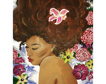 """Prints available.  """"Nyah"""" - Oil painting on Canvas."""