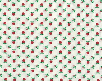 "APPLES COTTON FABRIC, 1 yard x 44"" wide.  Cranston Print Works Fabric. Brand new."