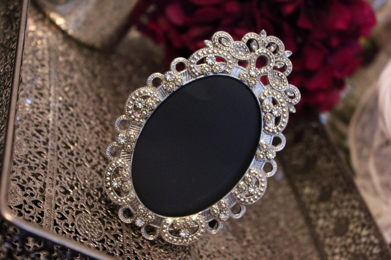 Sale set of 15 vintage style oval jeweled rhinestone frame zoom jeuxipadfo Images