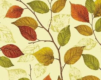 Kanvas Studio - Autumn Splendor by Maria Kalinowski - Fall Foilage Cream/Metallic