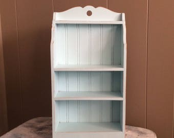 Vintage Wood Shelf~Farmhouse Shelf~Shabby Chic Shelf~Curio Shelf~Shadow Box~Display Shelf~Small Storage Cabinet~Distressed Shelf
