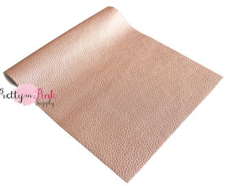 Rose Gold - Soft Faux Leather Fabric Sheet-Metallic Foil Fabric Sheet-A4 or A5 Leather Fabric Material-DIY Hair Bows 1mm Thick