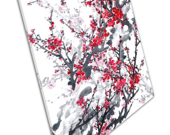 Cherry Blossom Tree branches Floral Art Ready to Hang Canvas X1835