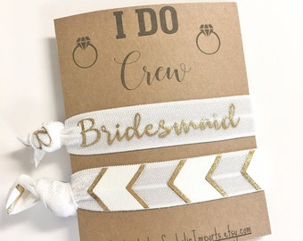 I Do Crew,  Hair Tie Favor, Bridesmaid Gifts, Bachelorette Party, I Do Favors, Wedding Favors, Bachelorette Gift, Hangover Kits