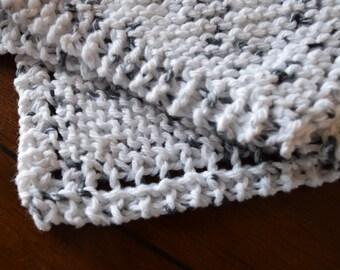 Knit Washcloth / Dishcloth - Set of 2