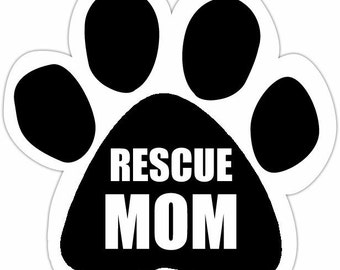 Dog Gifts, Rescue Mom Car Magnet, Rescue Dog