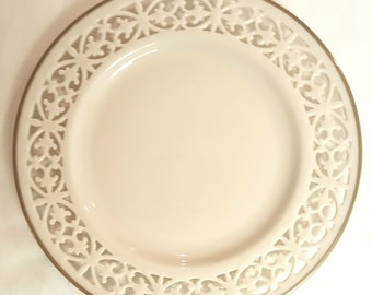 Lenox Modano Lace Cream & Gold Salad Plate