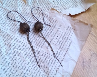 GOLDEN BOBBLE earrings (II) - antique collage