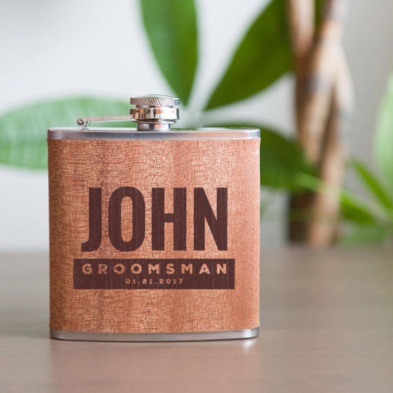 Personalized flask | groomsmen flask | best man flask | bold flask | bachelor party flask | wedding party gift | bridesmaid flask | #FSK012