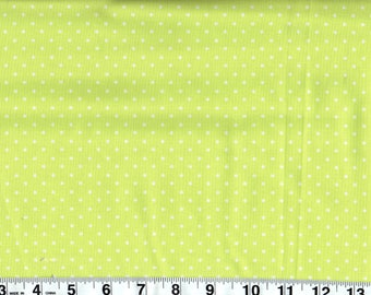 Pinhead Lime Cotton Fabric by Michael Miller, By the Yard #216