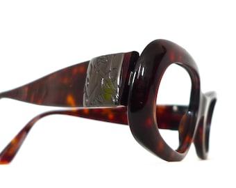 Sale YSL Mod Tortoise Shell Eyeglasses / Big Designer Eyewear. Yves Saint Laurent Sunglasses. SALE