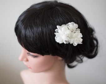 Flower hair pins | Bridal hair pins | White silk hair flowers | Floral hair pins | Wedding hair flowers