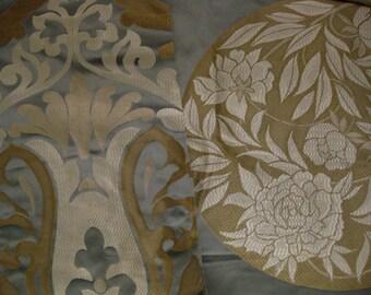 Osborne Little Colombina Brighella Designer Fabric Sample Lot Pillow Kit Metallic Damask