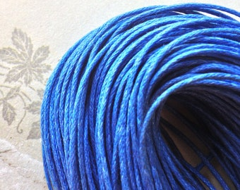 1 mm Navy Blue  Colour Waxed Cotton Cord (.mcc)