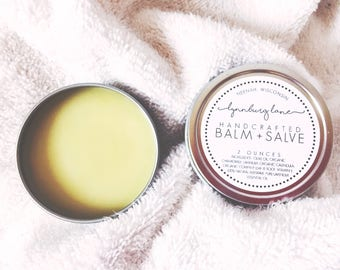 HERBAL BALM & SALVE Healing Salve Body Balm Hand Salve Healing Balm Cayenne Chamomile Lavender Organic Herbal Healing Balm