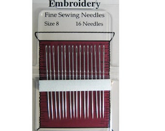 Embroidery Needles Size 8 - Piecemakers - 16 needle pack