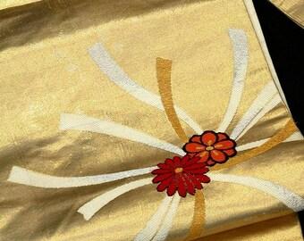 Japanese Kimono Obi / Vintage Silk Obi sash / Nagoya-Obi / 041608 sd