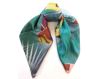One-of-a-kind silk scarf No.44
