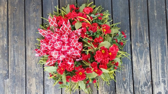 Spring Wreath, Summer Wreath, Easter Wreath, Valentine's Day Wreath, Extra Large Wreath