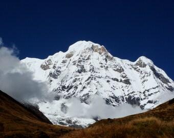 Wall art print Annapurna mountain photograph.