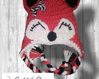 Baby Fox Crochet Hat
