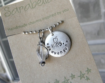 Customized Name necklace for Teachers or teacher appreciation gift