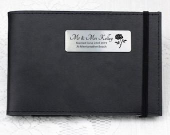 Personalised Wedding Mini Photo Album -Black